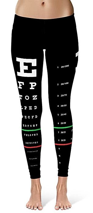 snellen eye chart leggings