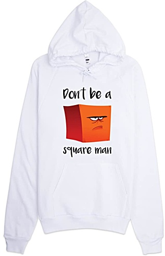 Square Man Designer Hooded Sweatshirt - American Apparel