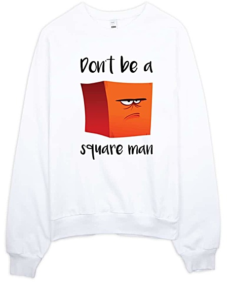 Square Man Designer Sweatshirt - American Apparel
