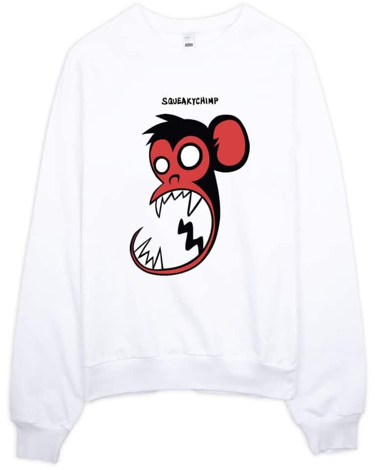 Squeaky Chimp Monkey Sweatshirt
