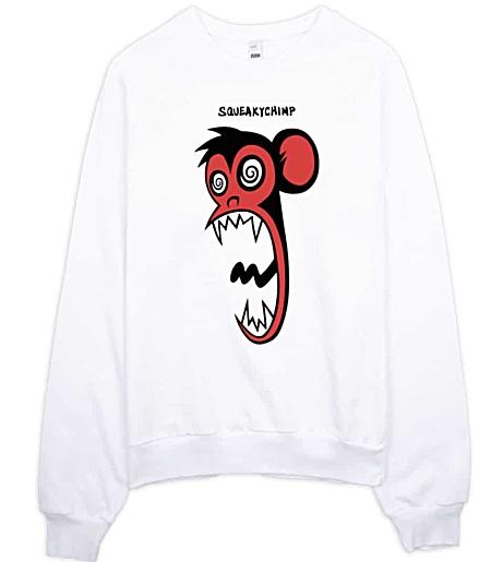 Squeaky Chimp Crazy Monkey Sweatshirt
