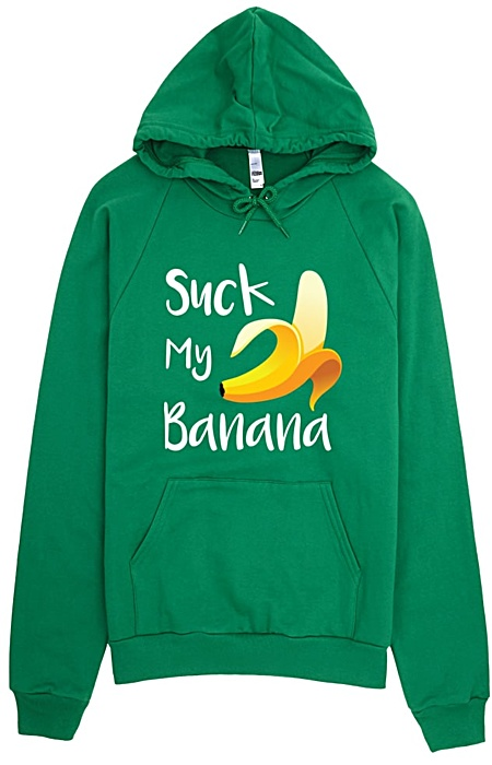 Suck My Banana Hoodie - Rude Sweatshirts by Squeaky Chimp