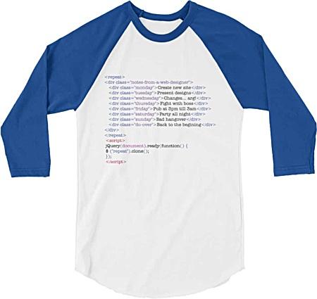 Designer tshirts for web designers