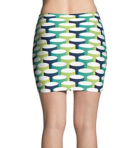 3D Tube Mini Skirt