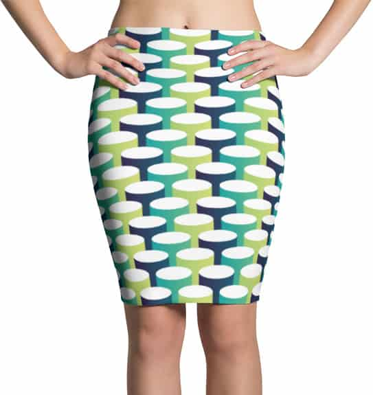 3d tube pencil skirt