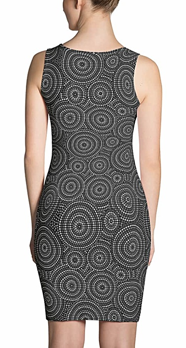 Aboriginal Concentric Circles Pattern Dress