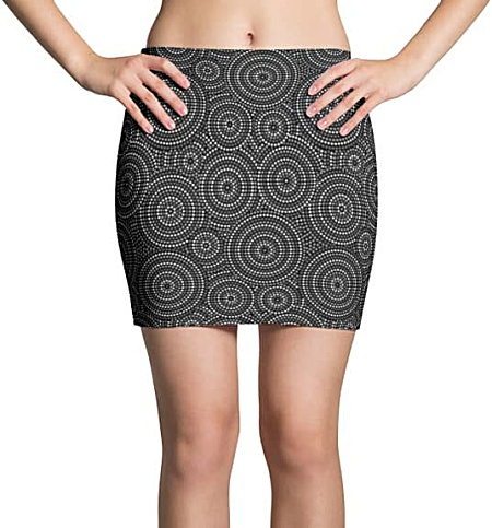 Aboriginal Circles Mini Skirt