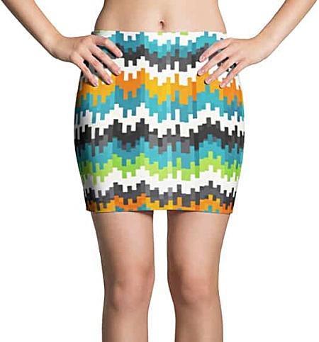 Cool Pixel Mini Skirt
