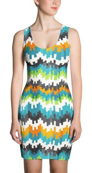 Abstract Pixel Designer Dress