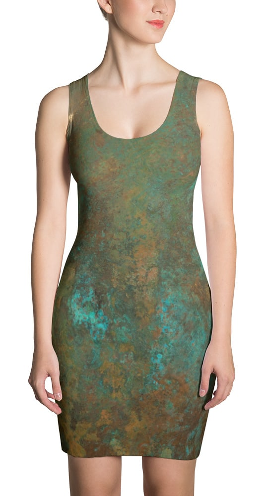 Antique Copper Rust Dress