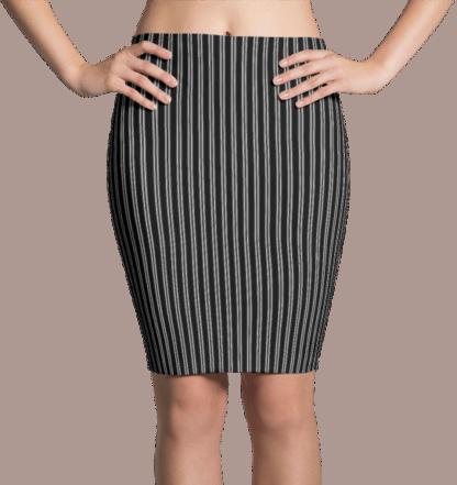 Black & White Pinstripe Dress
