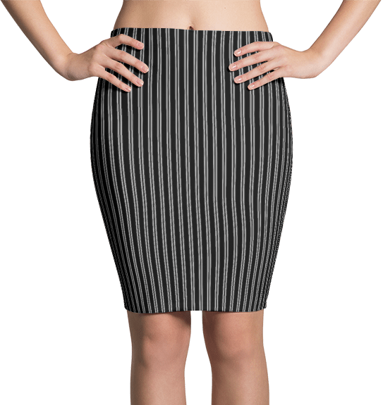 Black & White Pinstripe Dress