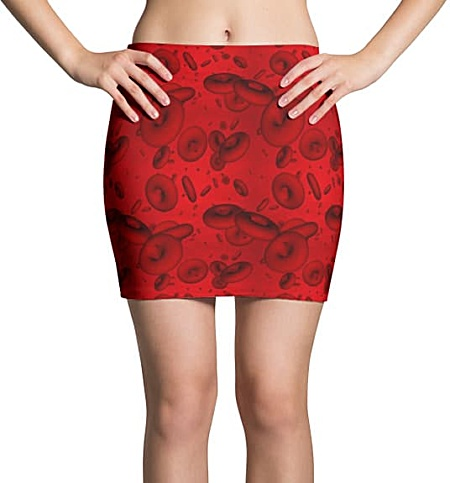 Blood Cell Mini Skirt