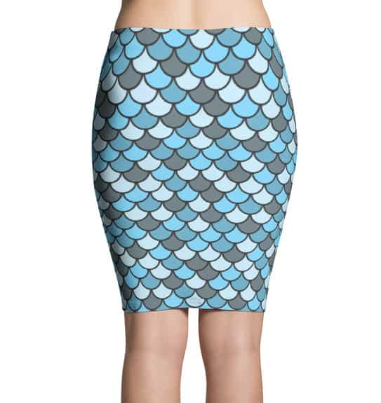 Blue Fish Scale Skirt