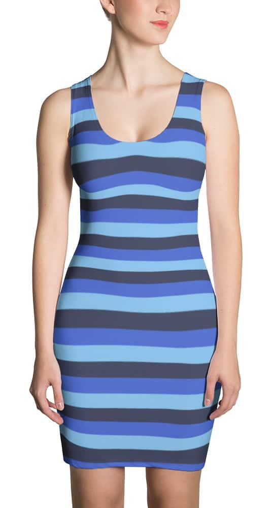 blue-horizontal-stripe-dress
