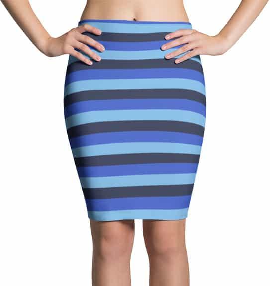 blue-horizontal-stripe-skirt