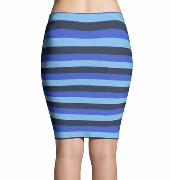 Blue Stripe Skirt