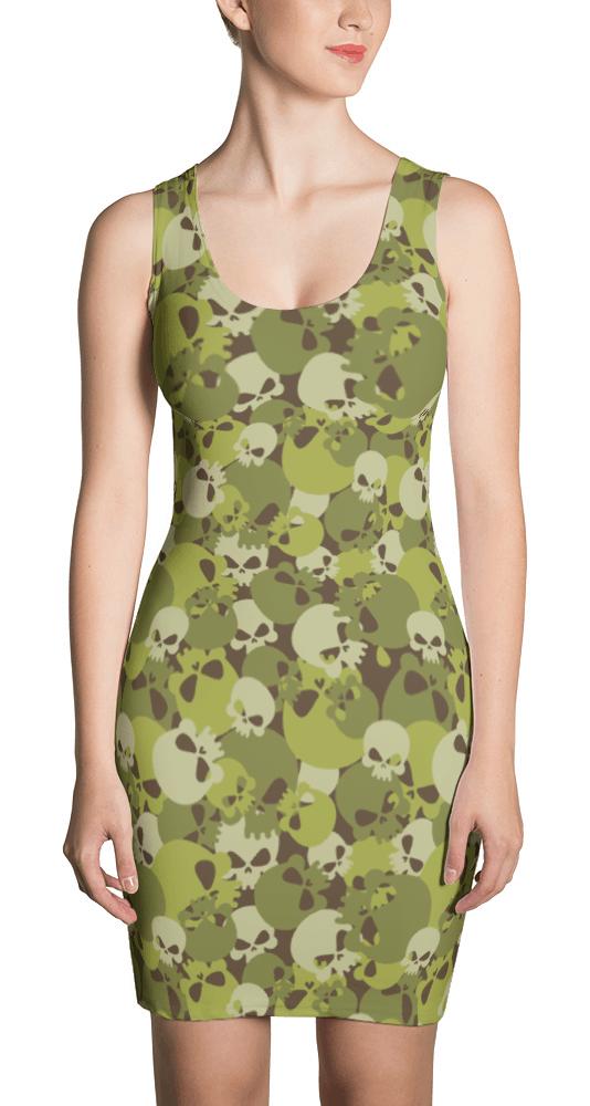 Camouflage Skulls Dress