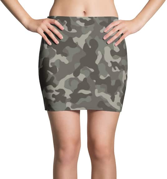 Camouflage Camo Mini Skirt