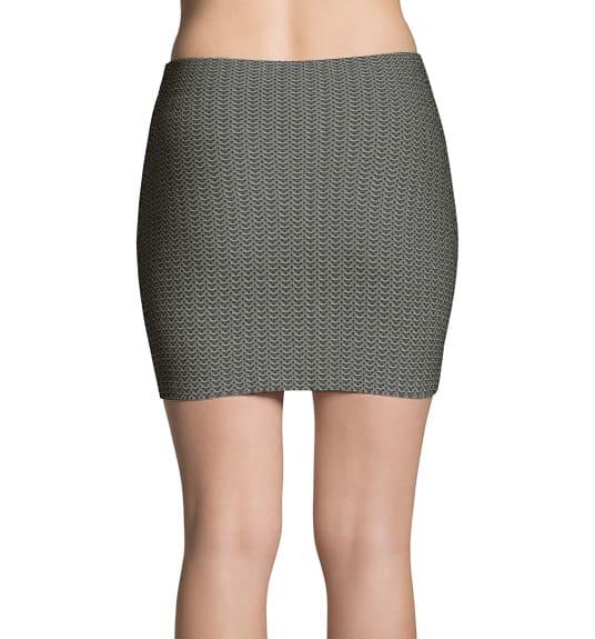 Metal Chainmail Mini Skirt