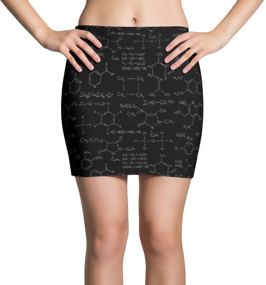chemistry-formula-equation-mini-skirt