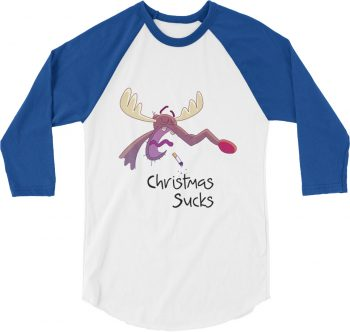 Christmas Sucks Baseball Tshirt