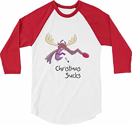 Christmas Sucks Baseball Tshirt
