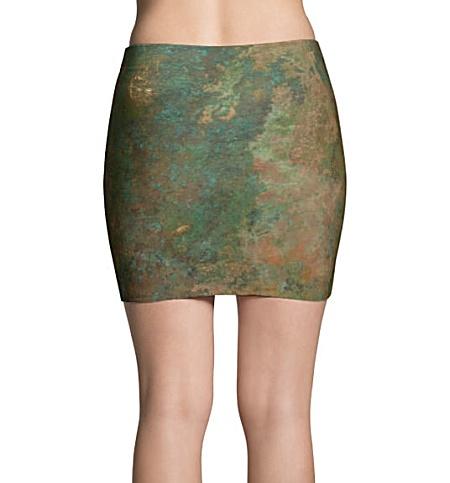 Grungy Metal Copper Mini Skirt