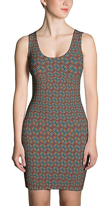 Colorful Circles Pattern Dress