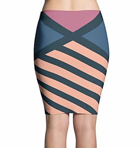 Diagonal Striped Skirt