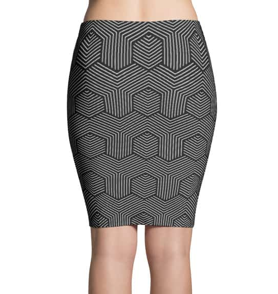 Dizzy Pattern Cool Pencil Skirt
