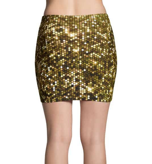 Sparkly Gold Mini Skirt