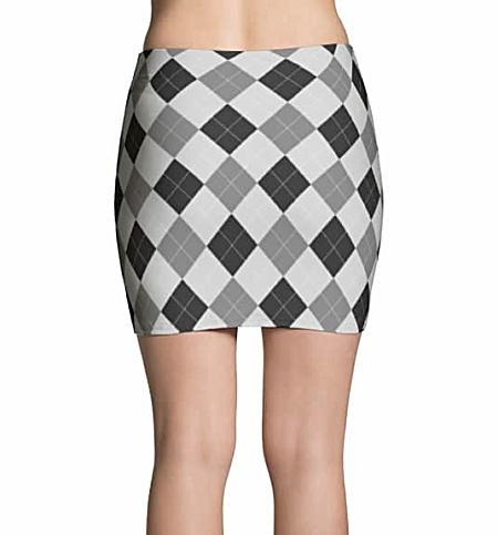 Argyle Mini Skirt