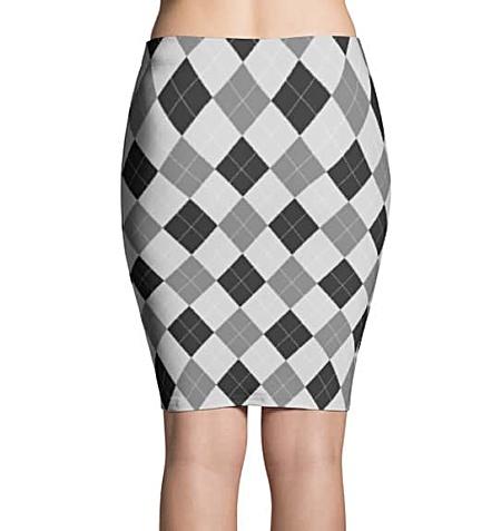 Argyle Pencil Skirts