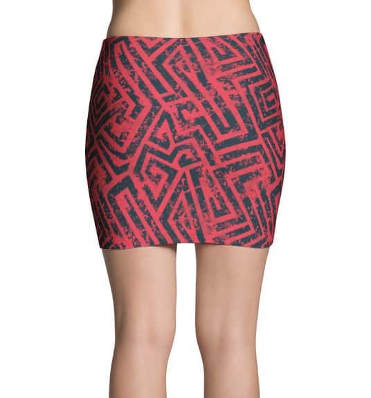 Pink Grungy Mini Skirt
