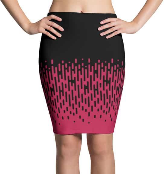Pink Halftone Line Skirt