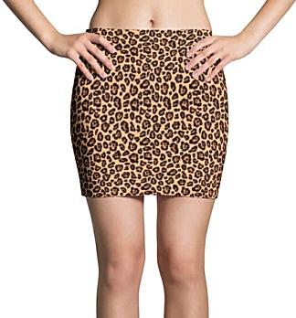 Sexy Leopard Skin Mini Skirt