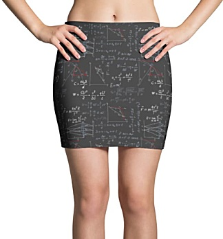 Physics Formula Mini Skirt