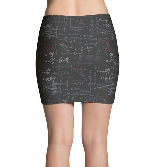 Physics Formula Mini Skirt