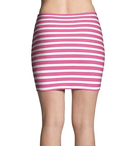 Thinning horizontal striped mini skirt