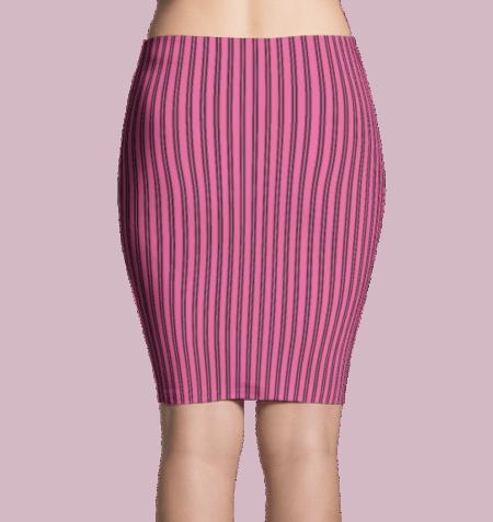Pink Pinstripe Dress
