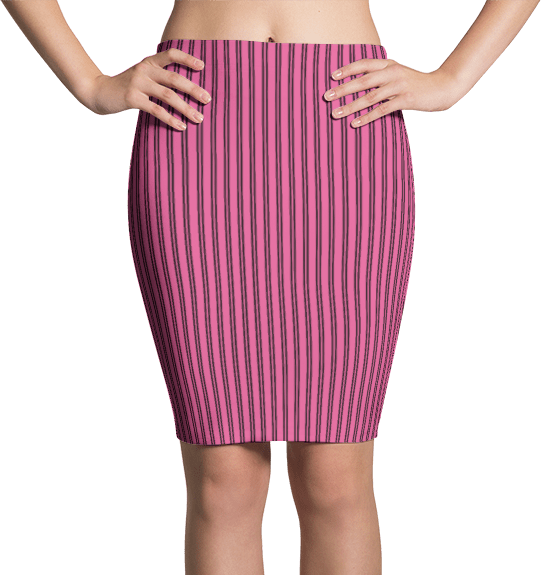 Pink Pinstripe Dress