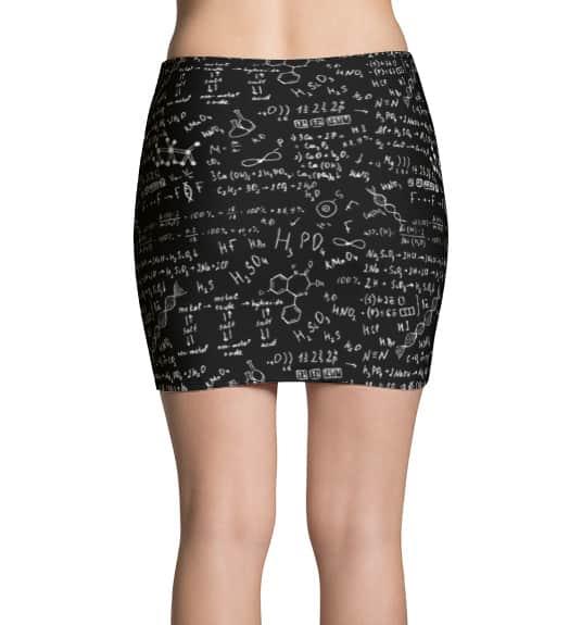 Science Chemical Formula Mini Skirt