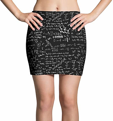 Science Chemical Formula Mini Skirt