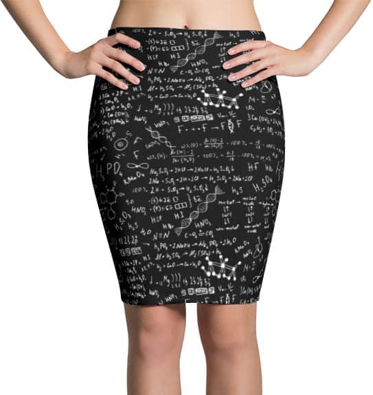 science-chemical-formula-skirt
