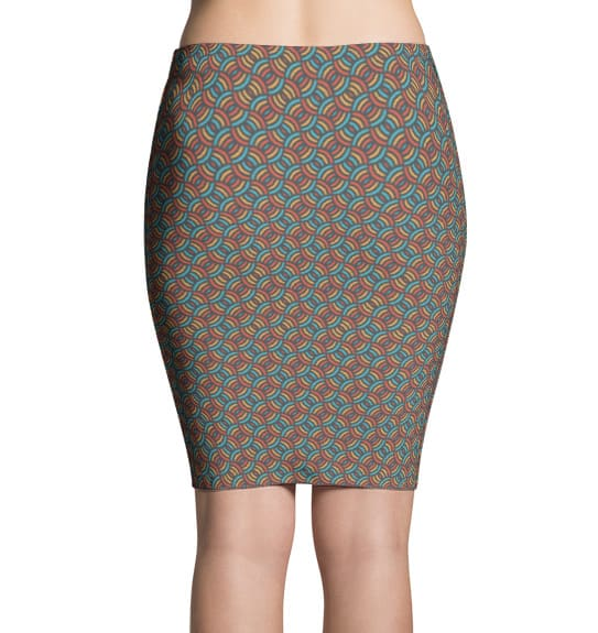 Colorful Circles Pencil Skirt
