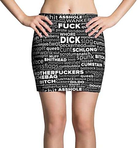 Rude Swear Word Cloud Mini Skirt - Rude Fashion