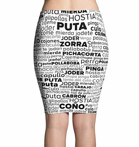 Spanish Swear Word Skirt - Swear Word Cloud