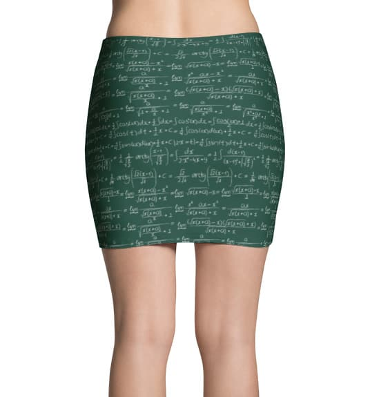 Trigonometry Mini Skirt