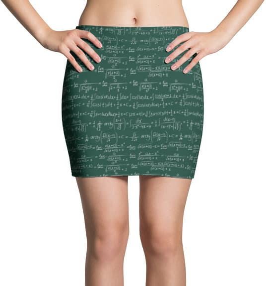 trigonometry-math-mini-skirt
